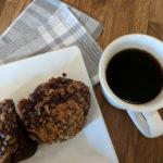 Chocolate zucchini muffin