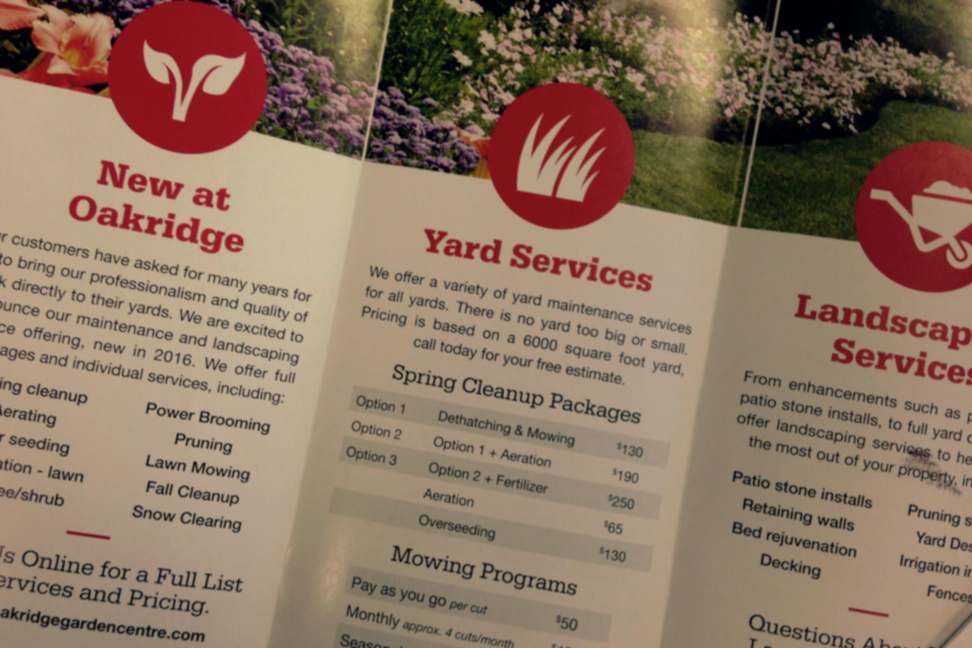 Yard Maintenance & Landscaping Services