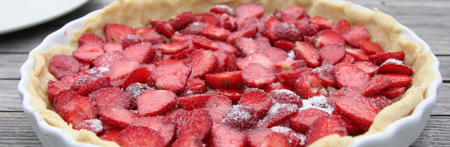 strawberry Rhubarb pie recipe delicious fresh Oakridge Cafe grow