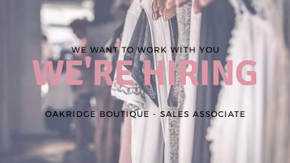 we're hiring sales associate oakridge boutique